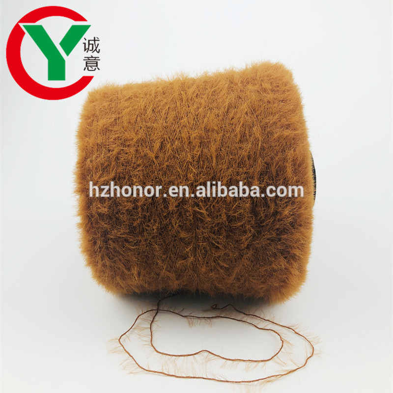 Factory hot sale feather fancy knitting yarn 100%Nylonsoft fancy yarn for Weaving