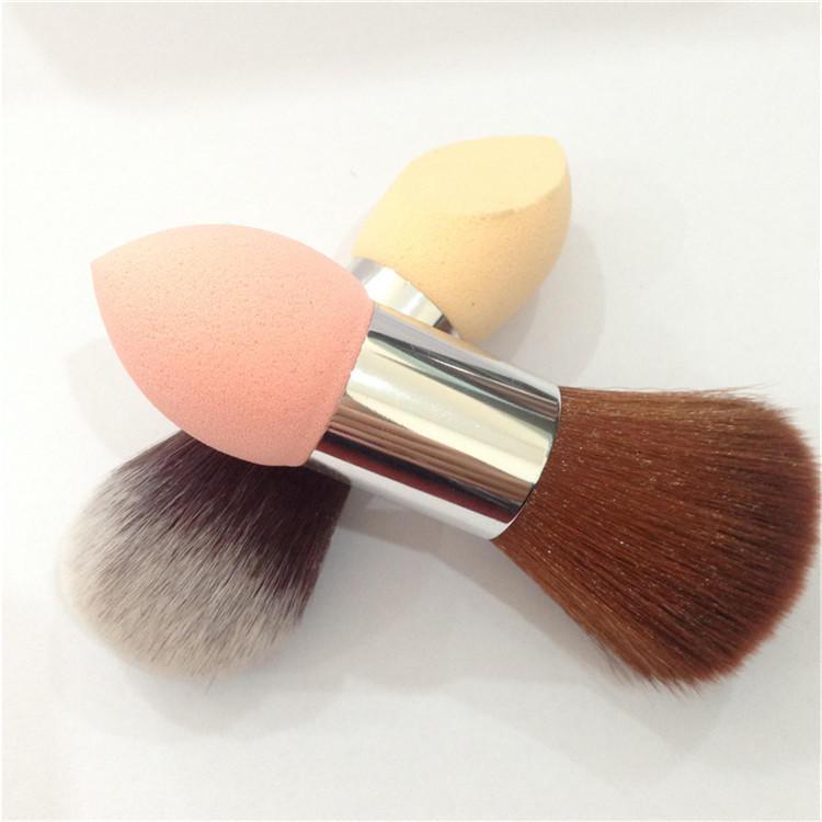 Private Label No Latex Powder puff Dual End Blending Sponge Makeup Brush