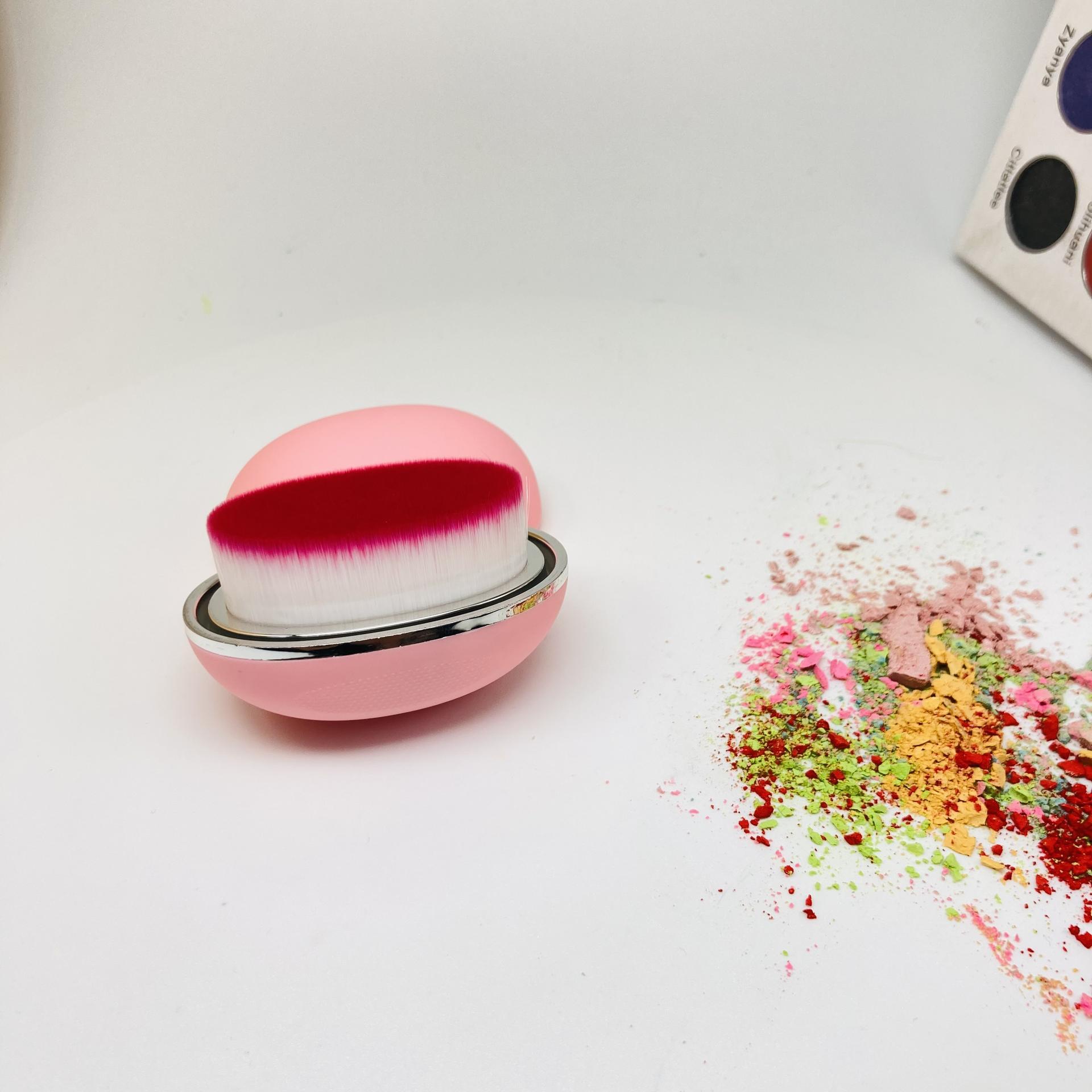 Pink make up brushes box for custom logo high quality foundation brush make up
