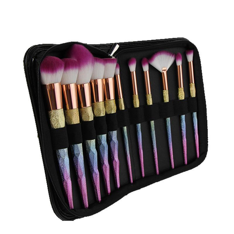 12pcs high quality blending eye brushes contour colorful makeup brush set