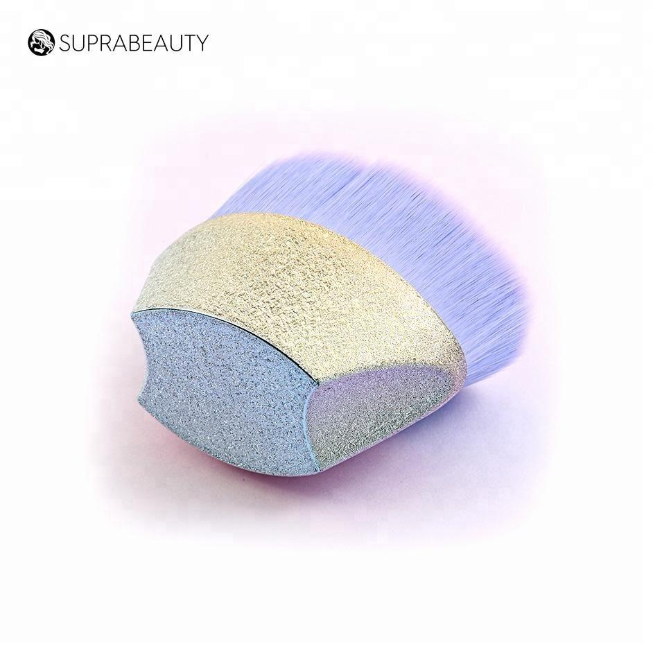 Egg shape shinning makeup tools Glitter cosmetic brush kabuki oval makeup brush