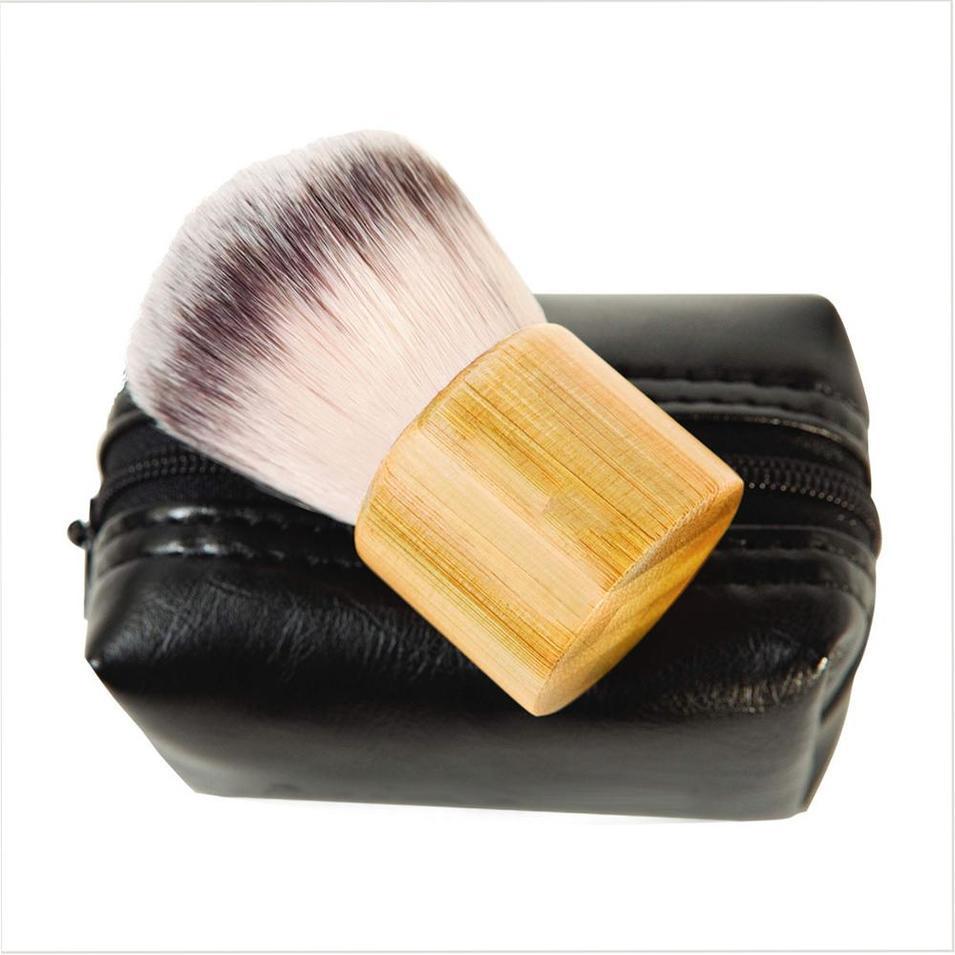 Eco-friendly bamboo handle kabuki cosmetic brush