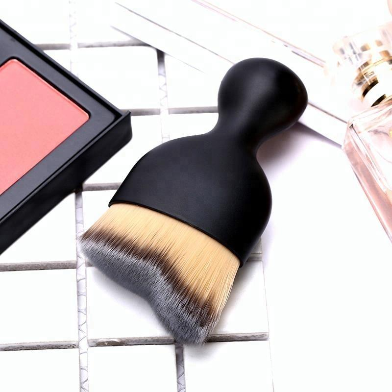 Contour Cosmetic Plastic Handle Custom Mask Applicator Golden Makeup Brush