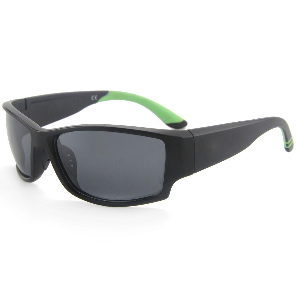 EUGENIA black frame trendy style big temple silicon nose pad UV 400 custom logo sport sunglasses