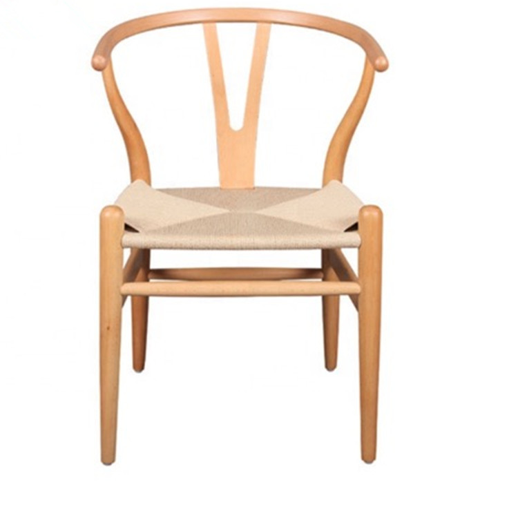 Simple backrest dining Y shape fabric leisure wooden chair picture for Dining Room Furniture