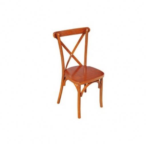 Professional White Cross Back Chair Wood Made In Vietnam