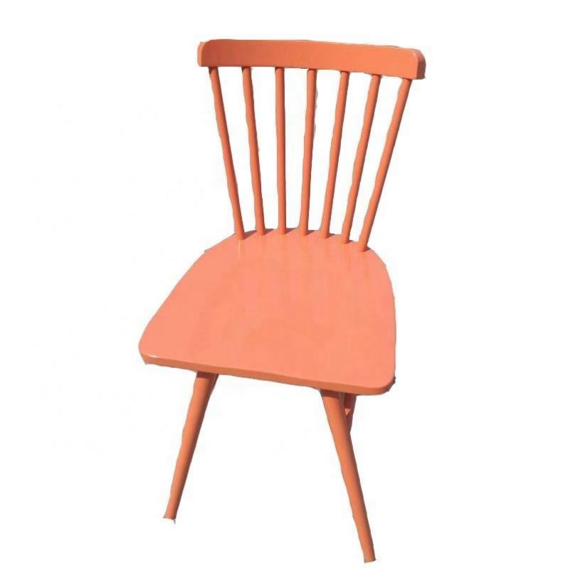 Newly white wood restaurant chair