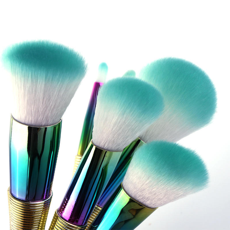 Gradient Universal Makeup Unique Ferrule 2018 Travel Cosmetic Set Vegan Blending Brush