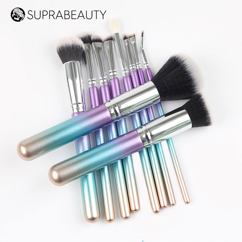 Facial Face Wood Makeup Colour Kabuki Make Up Set Unicorn Cosmetic Wooden Handle Cream Brush