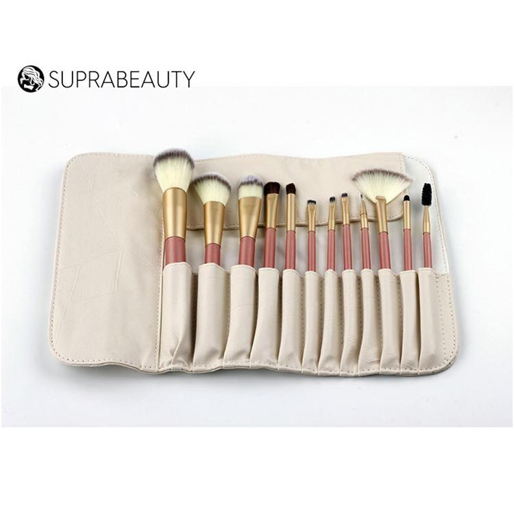Top Quality 12pcs premium Makeup Brush Set with Luxury pouch
