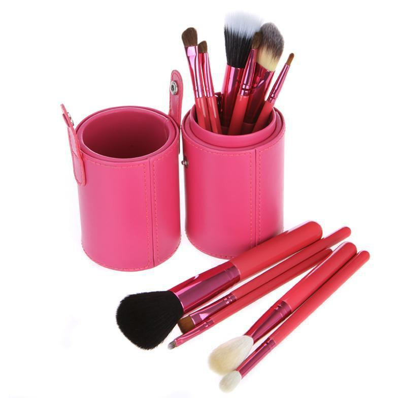 Multi-use 12pcs private label synthetic fibre cosmetic makeup brush set with PU bag case