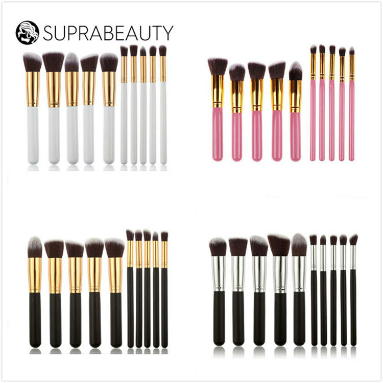 Professional 10pcs soft synthetic hair best price travel makeup brush sets