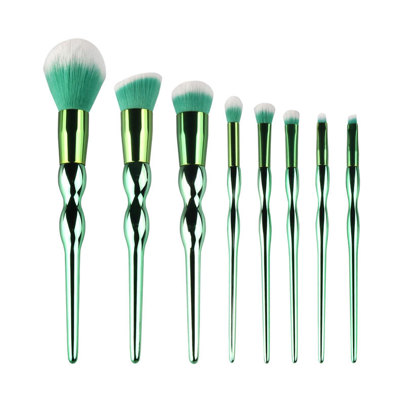 Makeup Tool Brush Gourd Shaped Handle Cosmetics Makeup Brush Sets Private Label oval makeup brush