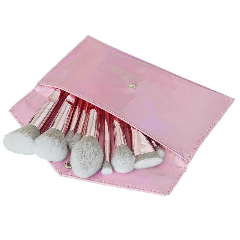 Air Make Up Belt Bristle Set Custom Diamond Glitter 10pcs Kabuki Makeup Brush