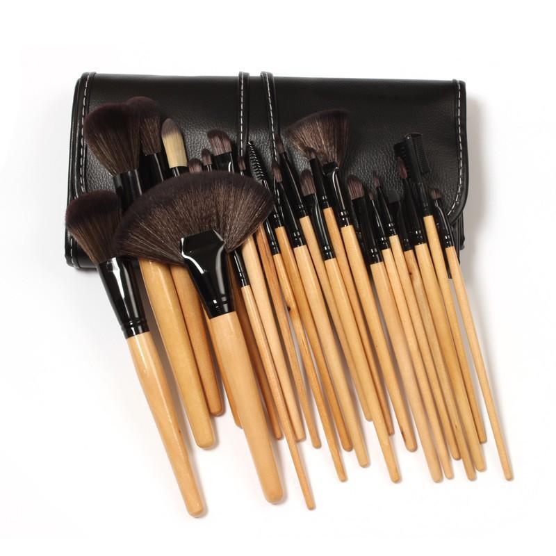 Rotating Cosmetic Box Lip Foundation Custom Set Organizer 24pcs Makeup Brush
