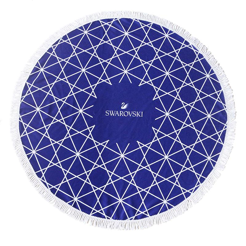 custom striped printsublimation photoprinted microfiber round beach towel large with logo