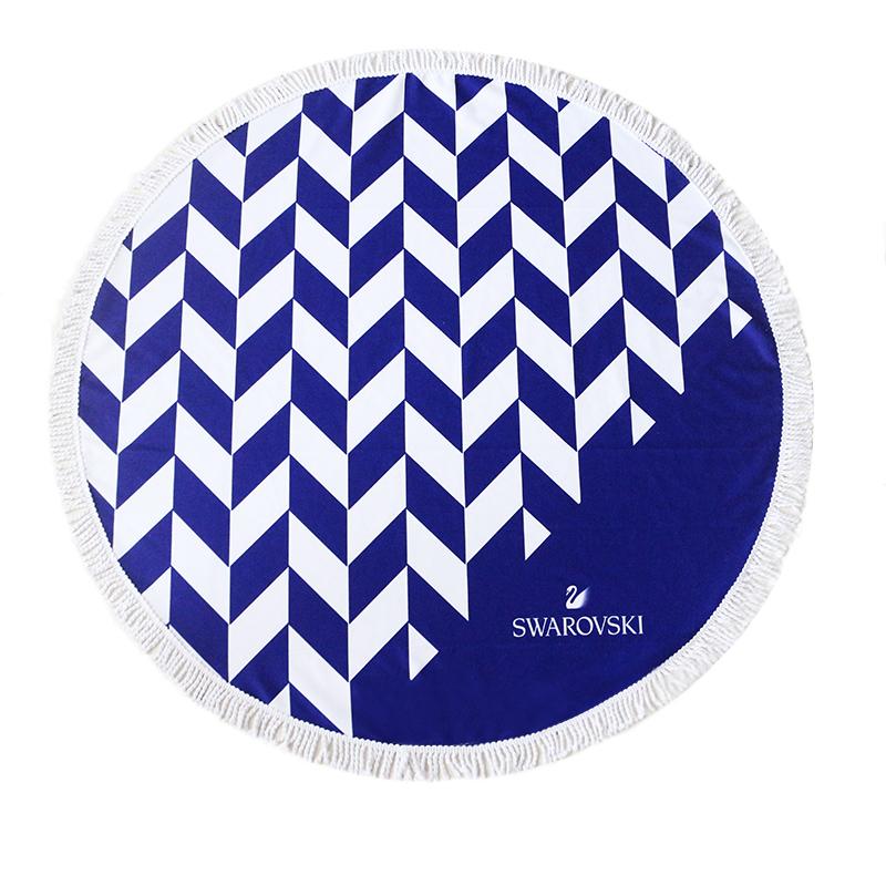 Oversized Custom Logo Round Microfiber Quick Dry Beach Towel