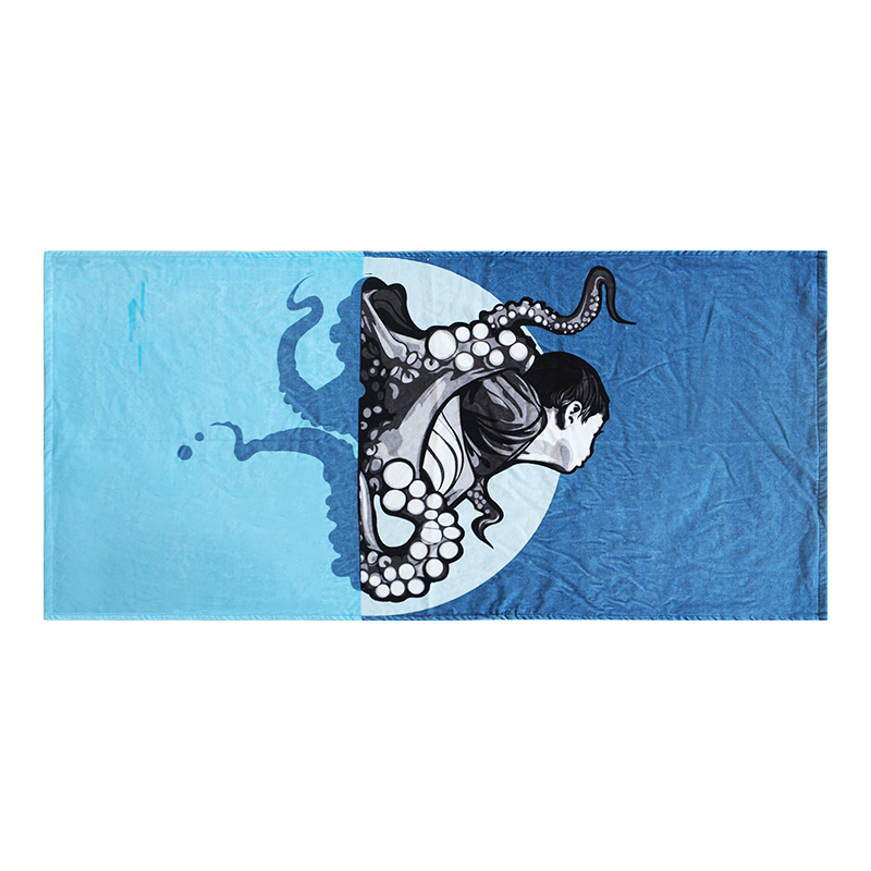 Wholesale Price Digital Printed 100% Polyester Beach Towel with Photo