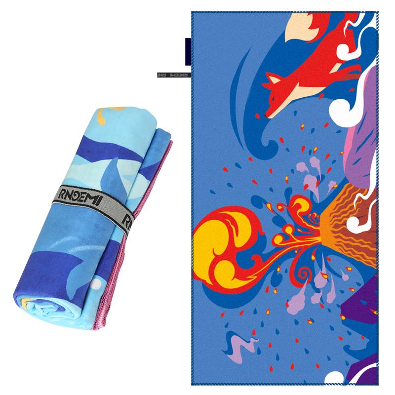 Custom Printed Beach Towel Microfiber Two Side Double Side Beach Yoga Mat Quick Dry