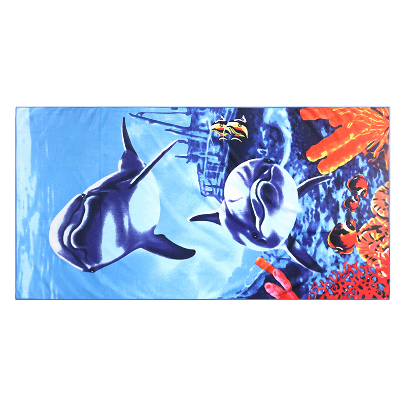 Woven printed sand resistant personality adult beach towel