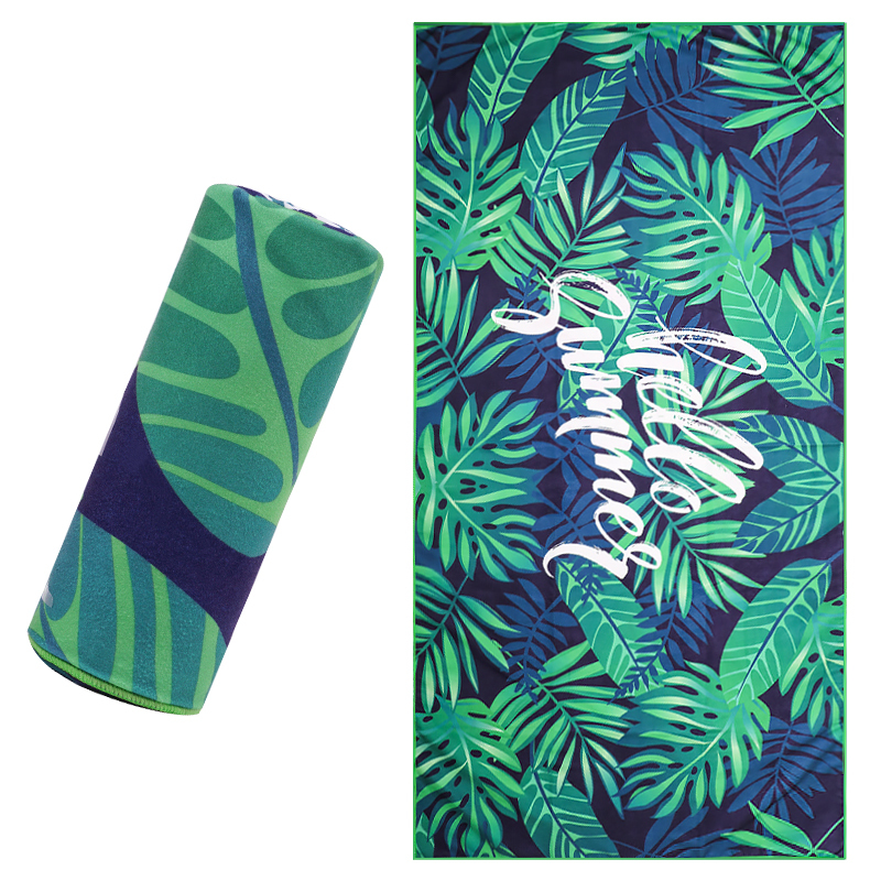 Custom Suede Microfiber Two Side Double Side Printed Beach Towel Quick Dry Beach Yoga Mat