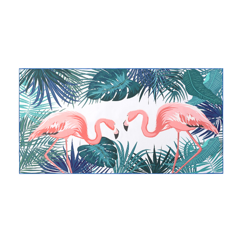 Quick Dry Custom Suede Microfiber Two Side Double Side Printed Beach Towel Beach Yoga Mat
