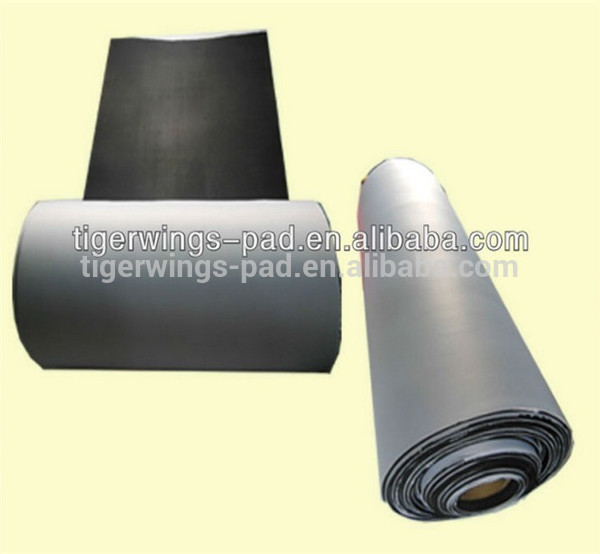 Natural rubber mouse pad rolls raw material