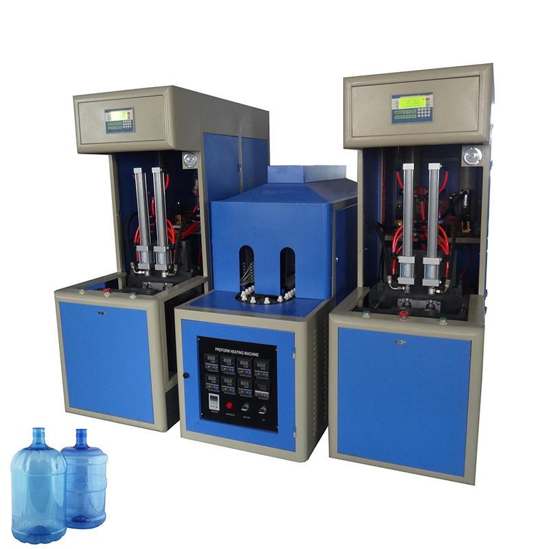 20lliter 5 gallon semi automatic pet pc bottle blowing machine