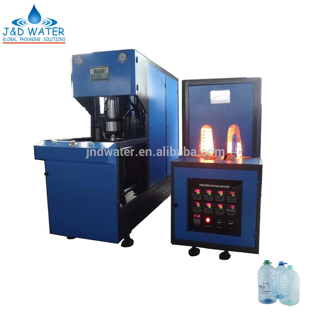 Semi 3-5L plastic bottle blow molding machine for PET with CE certificate