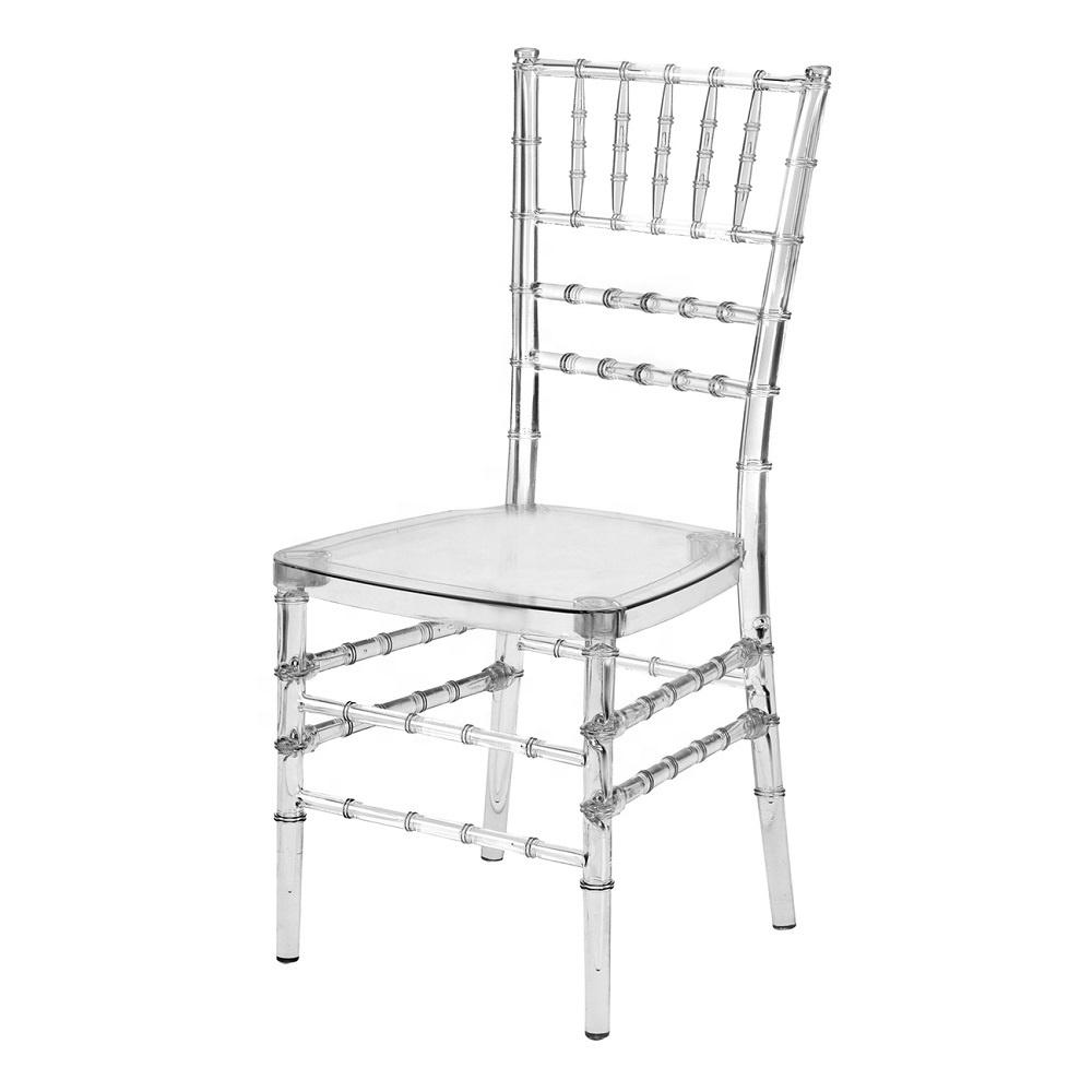 Elegant clear plastic wedding chair for event wedding