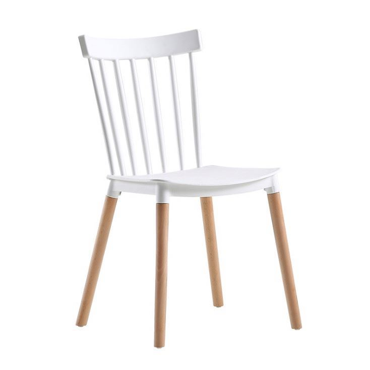 Red Stackable Stacking Strip Restaurant Plastic Chair
