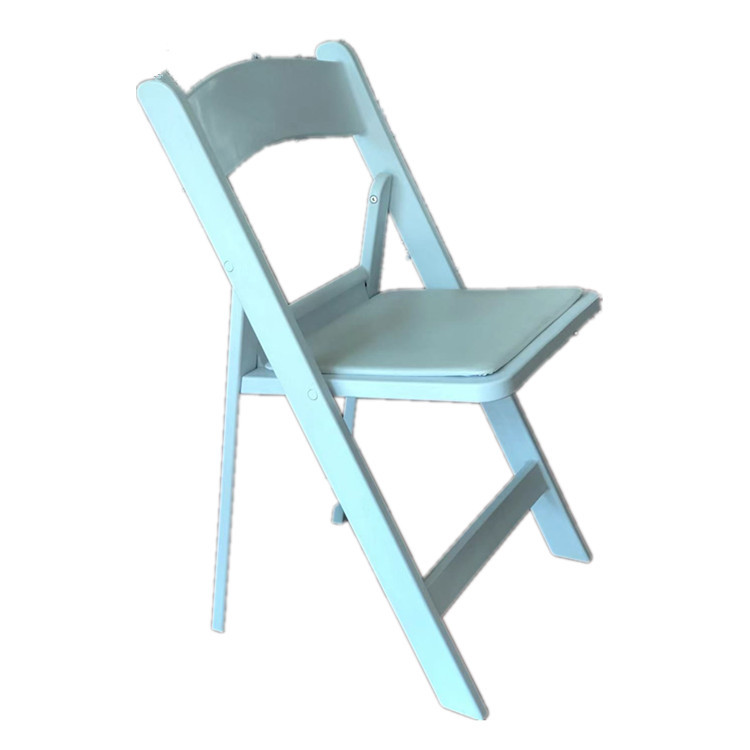 Outdoor white plastic folding / foldable / fold chair for rental