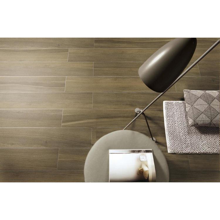 Floor grain look wood porcelain tile