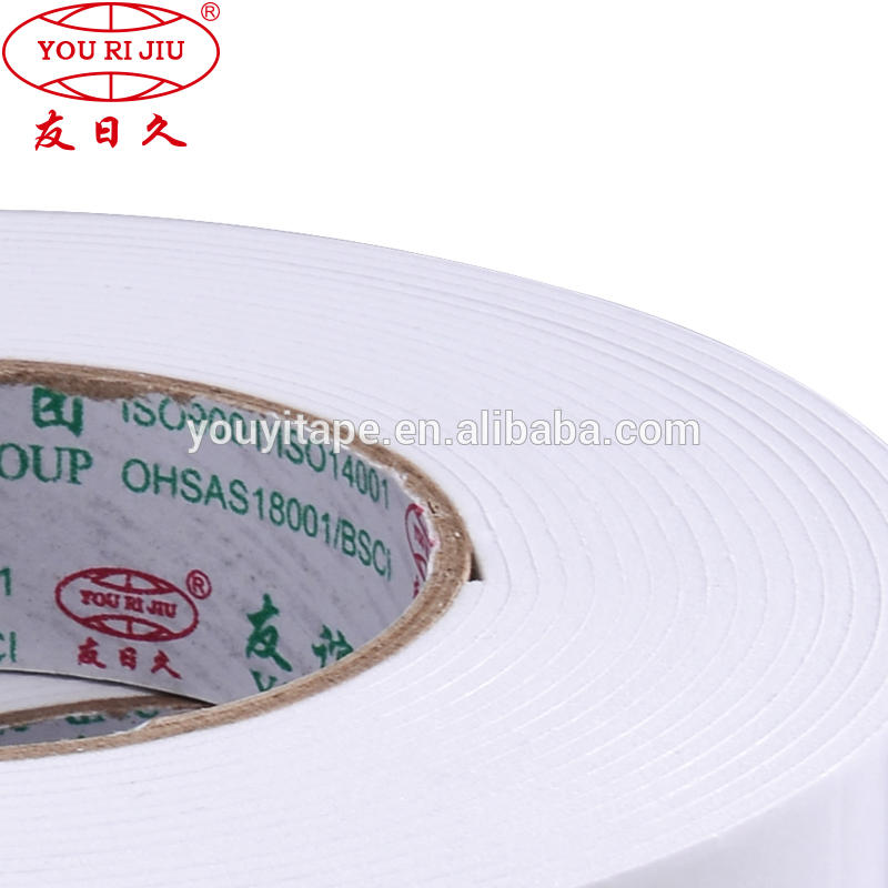 new products alibaba china white tissue foam eva double side tape YH-DS01