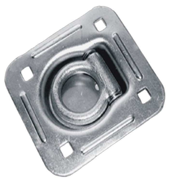 Truck Body Parts Steel Zinc Plated Recessed Rope Ring 20000Lbs
