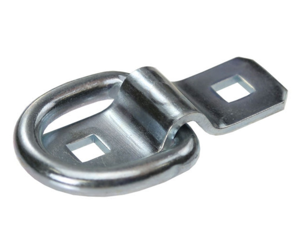 Zinc plated Steel D Rings Load Cargo Anchors Points with Mounting Bracket for Truck Boat Cars