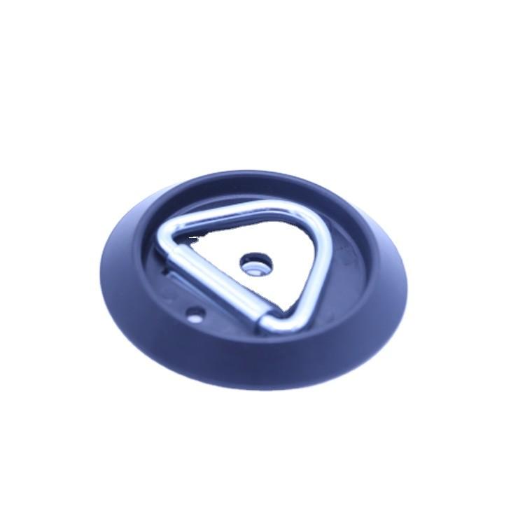 105mm x 12mm PVC Round surface mount lashing ring with metal surround