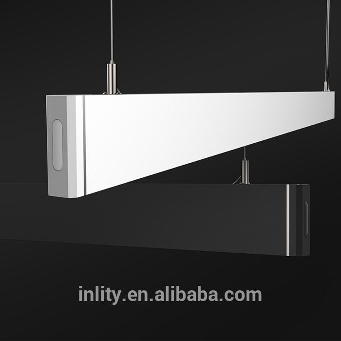 Black or White Linear Led Office Light With Rectangular Combination
