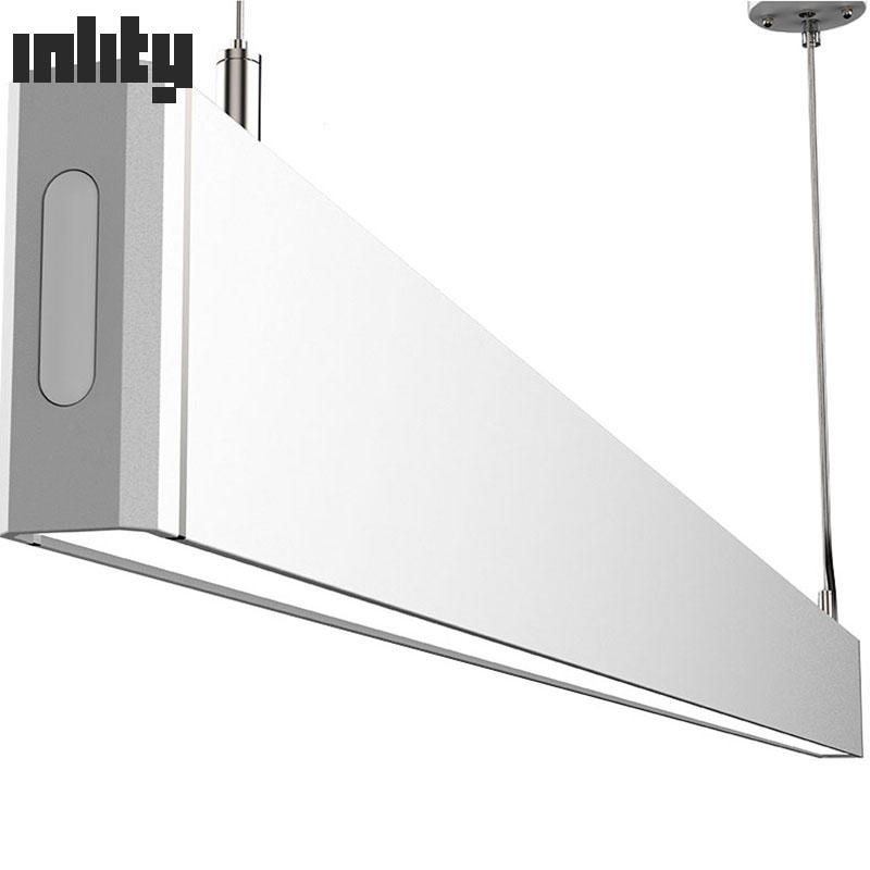 CE/ROHS Listed black color aluminum suspended linkable led linear lighting