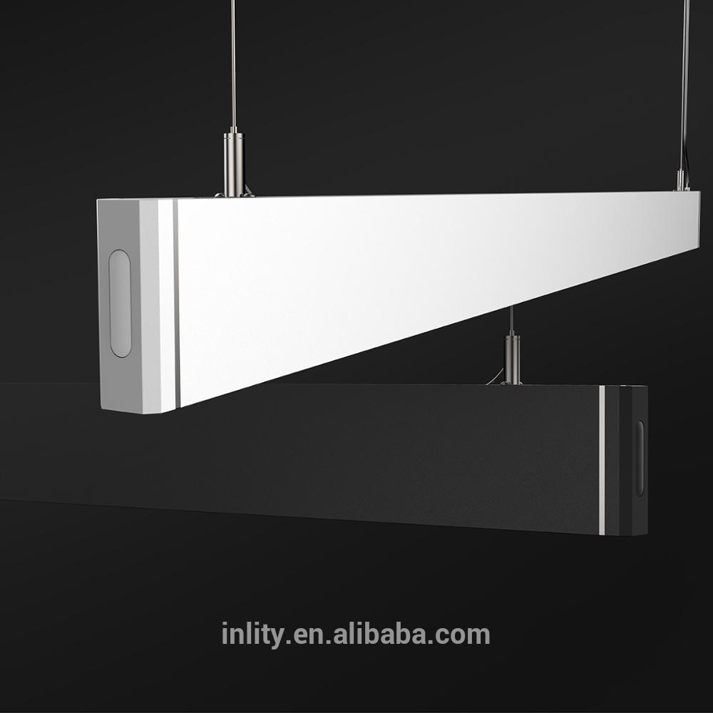36W Linear Led Light White Body 4000K Rectangular Suspend Linear Led Lighting For Gallery