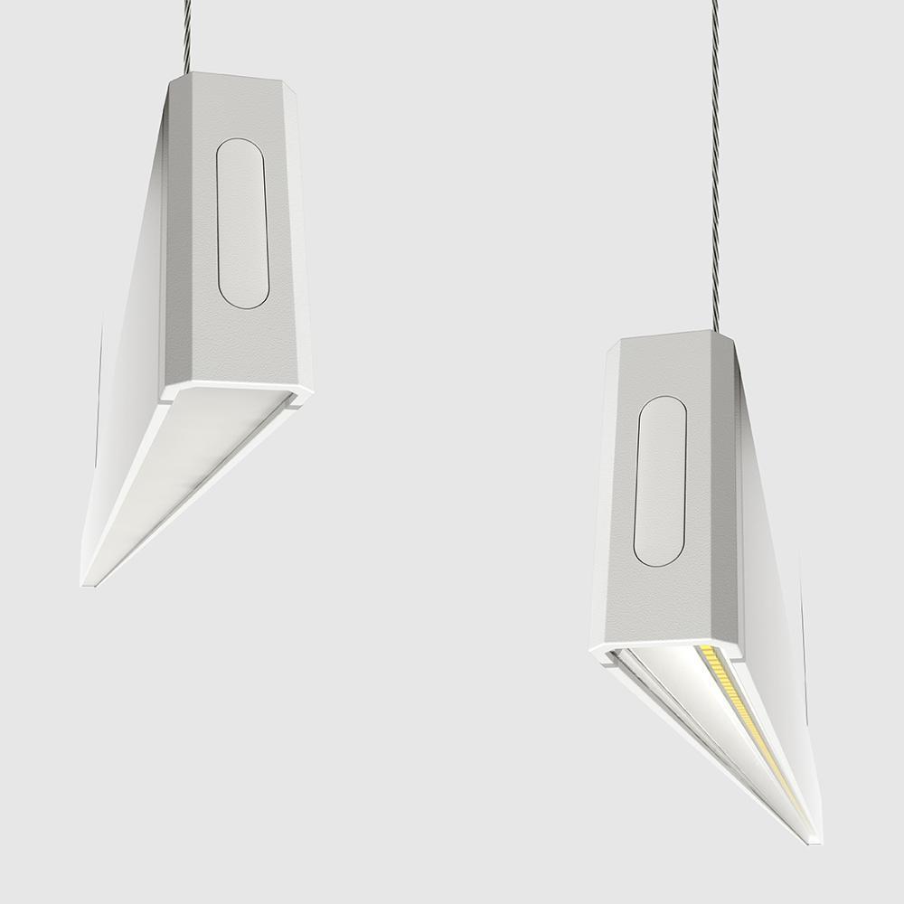 Modern Aluminum Pendant Office Hanging Vertical Pendant Linear Lighting