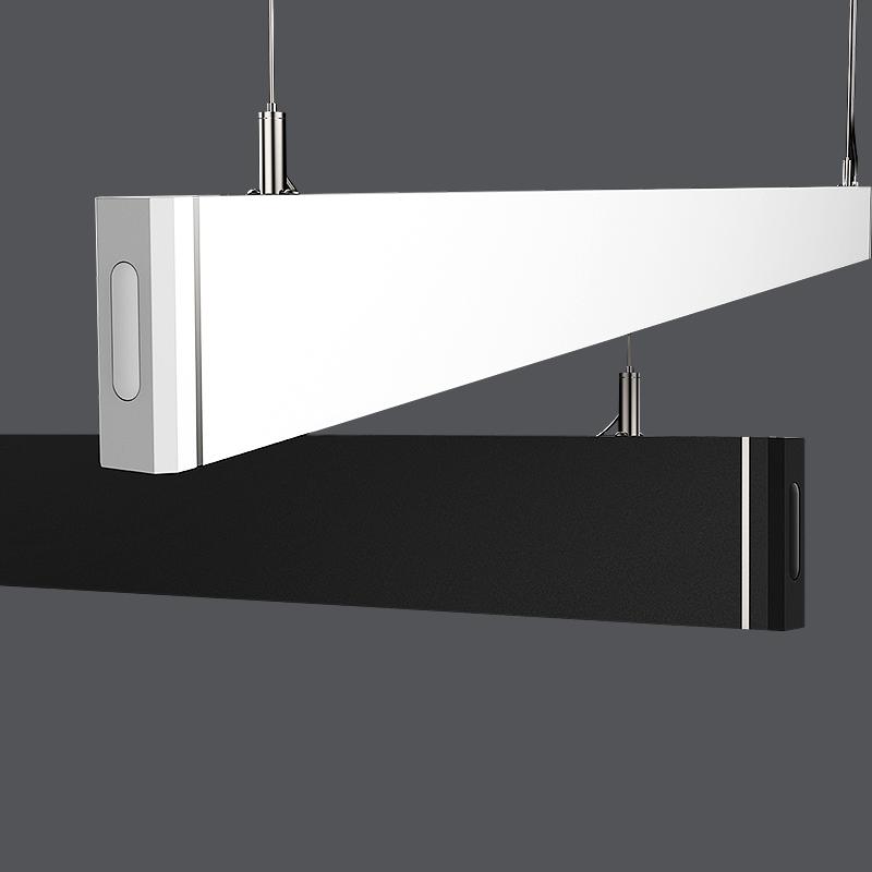 36w mote control led light office decorating led light modern led linear chandeliers pendant light