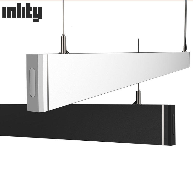 Hotel Modern Aluminum Black Body Led Linear Pendant Light 18w