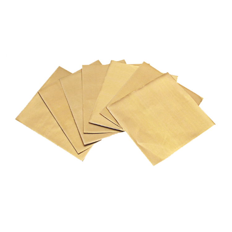 Individual chocolate gold aluminum foil wrapped paper