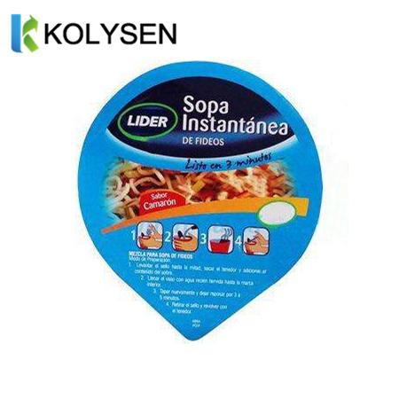 Aluminum Foil Die Cut Lids for Instant Noodles Cup