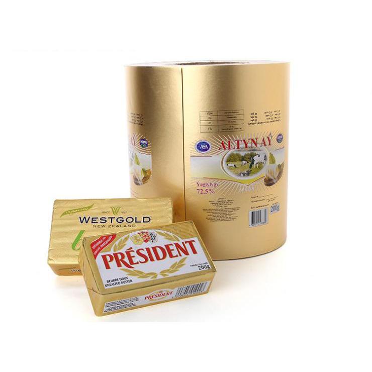 China Factory Price Custom Printing Logo Food Grade Butter Aluminum Foil Roll Packaging
