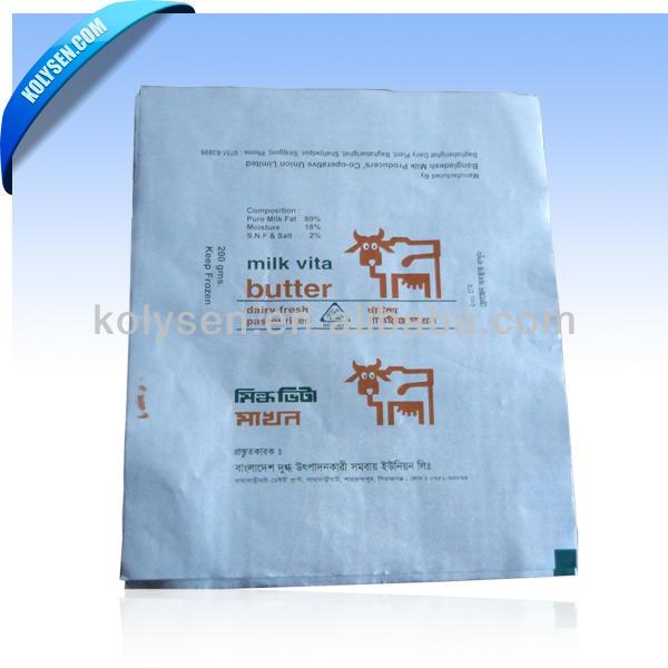 Custom PE coating Margarine /Butter Packaging Paper