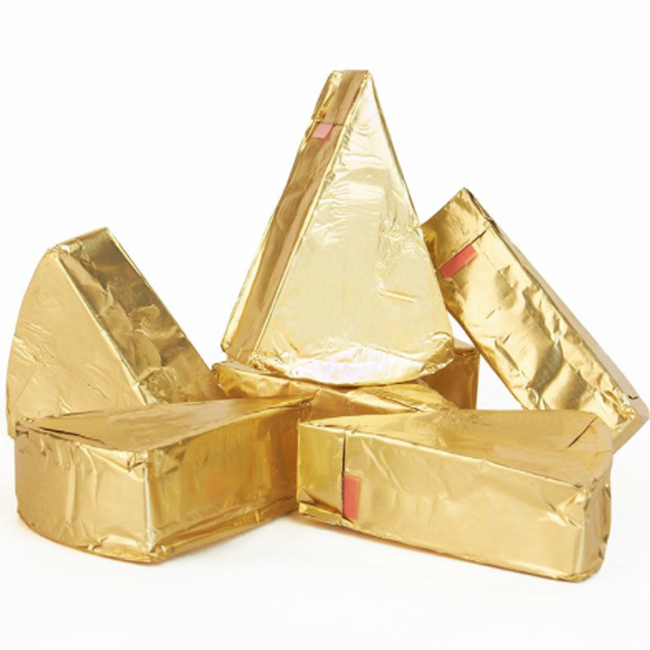 Gold color cheese aluminum foil for packing triangle cheese