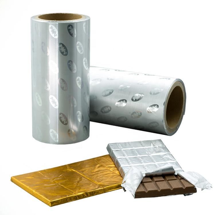 Custom Printed Colors Wrapper Chocolate Foil Wrapping Paper for Chocolate