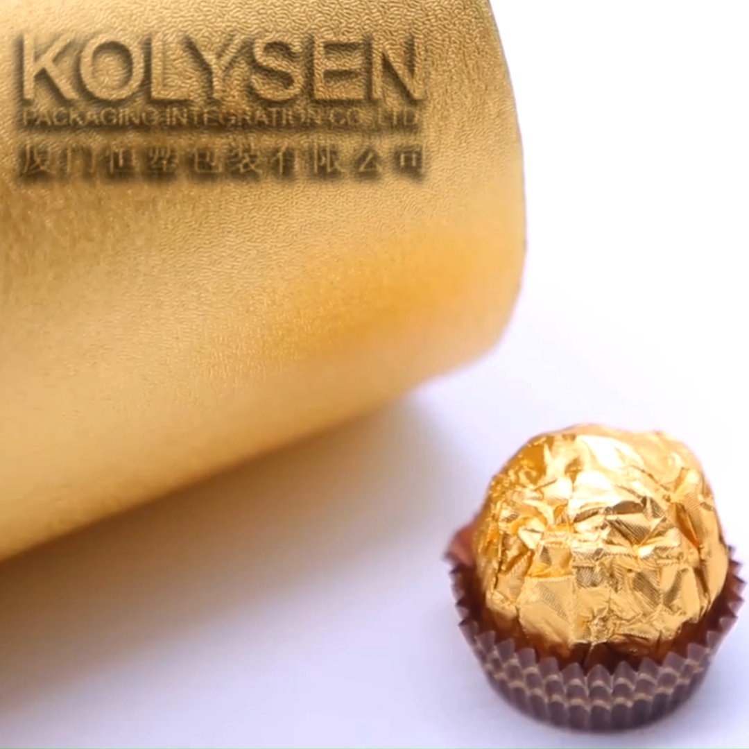 Sample available Chocolate Wrapping Paper Aluminum Foil